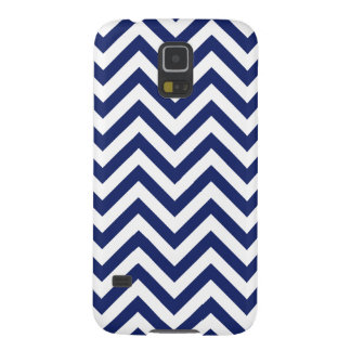 Navy Blue and White Zigzag Stripes Chevron Pattern Galaxy S5 Case