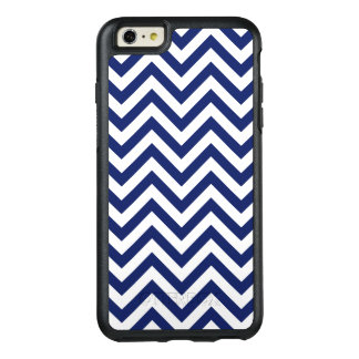 Navy Blue and White Zigzag Stripes Chevron Pattern OtterBox iPhone 6/6s Plus Case