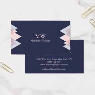 Navy Blue Arrow Women's Professional Business Business Card