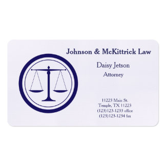 Navy Blue Attorney Business Card