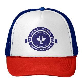 Navy Blue Beer Badge Bachelor Party Branding Cap