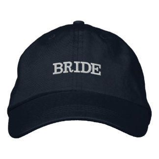 Navy Blue Bride Wedding Party Adjustable Hat Embroidered Baseball Caps