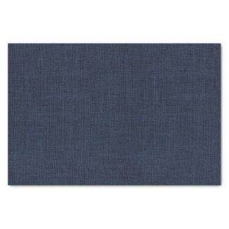 Navy Blue Burlap Texture Tissue Paper