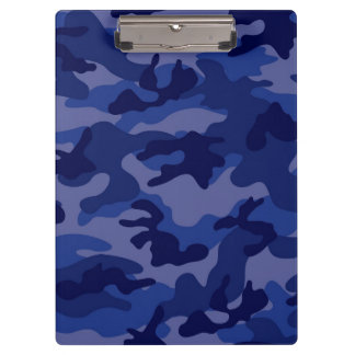 Navy Blue Camo, Camouflage Clipboards