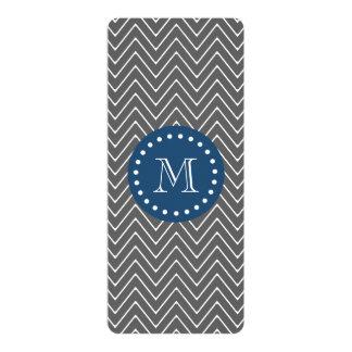 Navy Blue, Charcoal Gray Chevron Pattern | Your Mo 10 Cm X 24 Cm Invitation Card