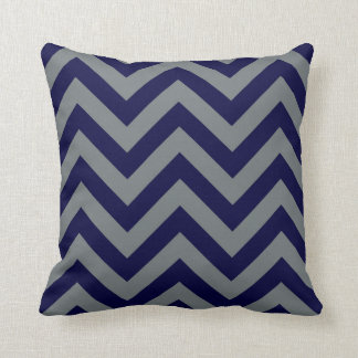 Navy Blue, Charcoal Large Chevron ZigZag Pattern Throw Cushions