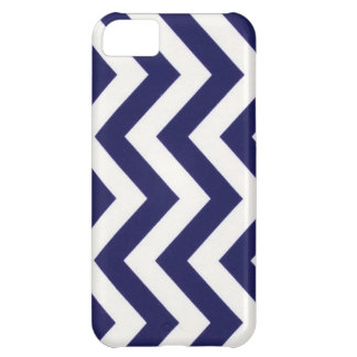 Navy Blue Chevron iPhone 5C Case