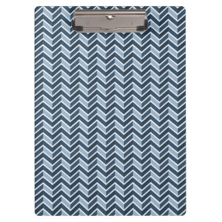 Navy Blue Chevron Pattern Clipboard