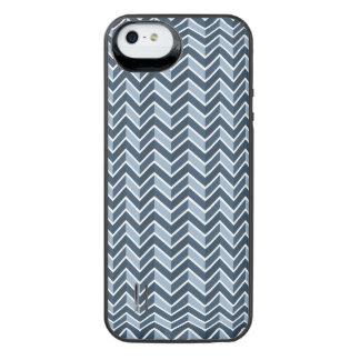 Navy Blue Chevron Pattern iPhone SE/5/5s Battery Case