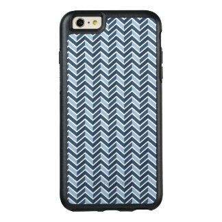 Navy Blue Chevron Pattern OtterBox iPhone 6/6s Plus Case