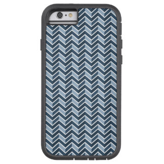 Navy Blue Chevron Pattern Tough Xtreme iPhone 6 Case