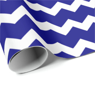 Navy blue chevron wrapping paper