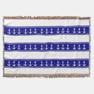 Navy Blue Coastal Pattern Anchors