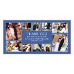 NAVY BLUE COLLAGE | WEDDING THANK YOU CARD PHOTO CARDS