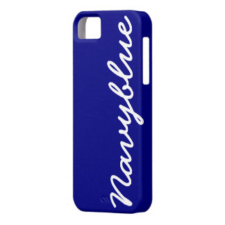 Navy Blue Customizable Cover iPhone 5 Case