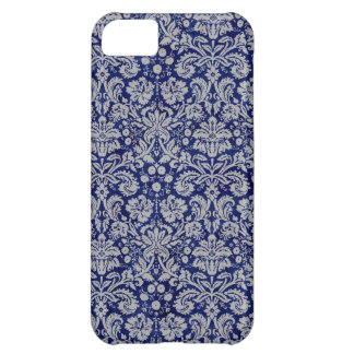 Navy Blue Damask iPhone 5C Case