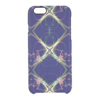 Navy Blue Diamond Design Clear iPhone 6/6S Case