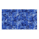 Navy Blue Digital Camo Camouflage Texture Pack Of Standard Business Cards