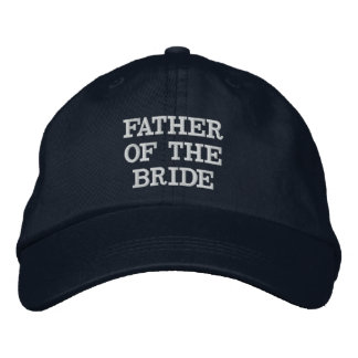 Navy Blue Father of the Bride Adjustable Hat