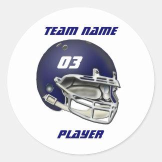 Navy Blue Football Helmet Sticker