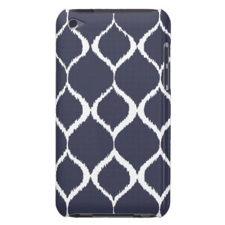 Navy Blue Geometric Ikat Tribal Print Pattern Barely There iPod Cases