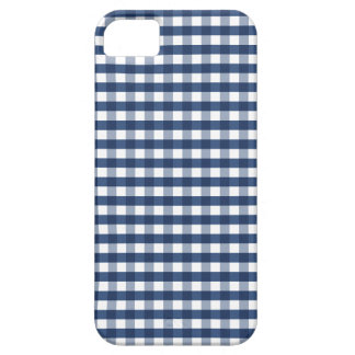 Navy Blue Gingham iPhone 5 Cases
