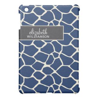 Navy Blue Giraffe Pern iPad Mini Case