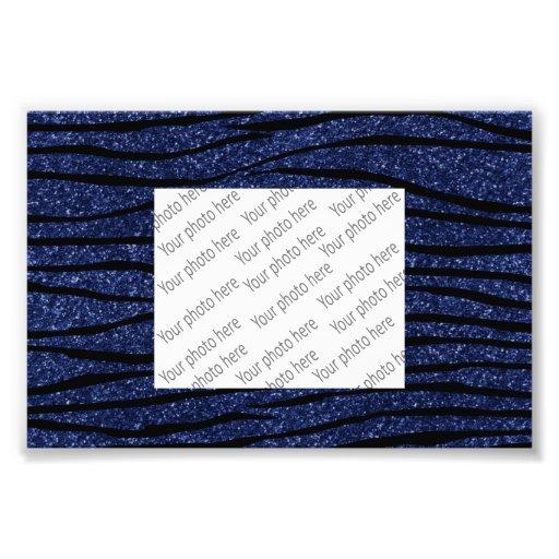 Navy blue glitter zebra stripes photograph