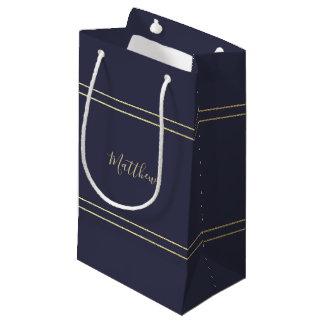 Navy Blue | Gold Elegant Wedding Favor | Gift Bags
