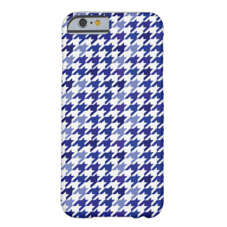 Navy blue Houndstooth Pattern Barely There iPhone 6 Case