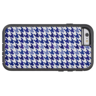 Navy blue Houndstooth Pattern Tough Xtreme iPhone 6 Case