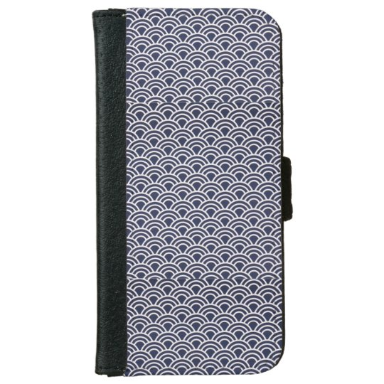 Navy Blue Iphone 6/6s Wallet Phone Case