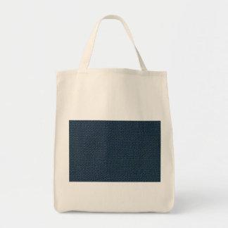 Navy blue jute burlap fabric look photo tote bags