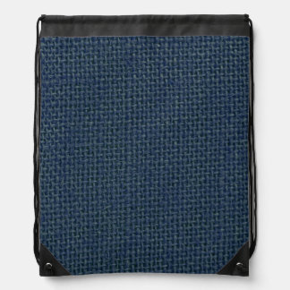 Navy blue jute burlap fabric look photo cinch bags