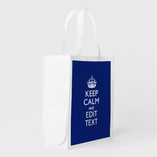 Navy Blue Keep Calm And Edit Text Personalized