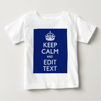 Navy Blue Keep Calm And Edit Text Personalized Tshirts