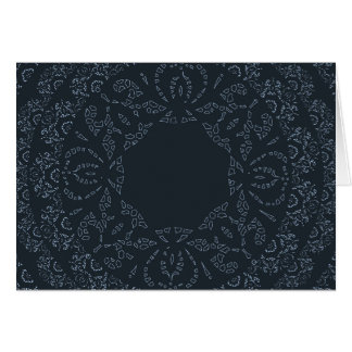 Navy Blue Lace Elegant and Sophisticated Design Card