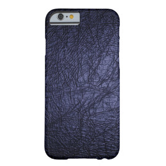 Navy Blue Leather Look iPhone 6 case Barely There iPhone 6 Case
