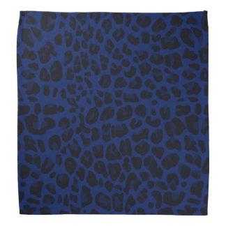 Navy blue leopard print bandanas
