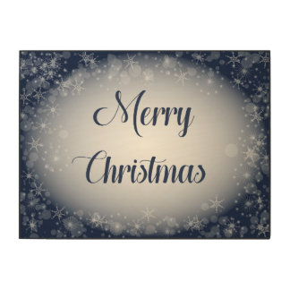 Navy Blue Merry Christmas Sign for Entryway