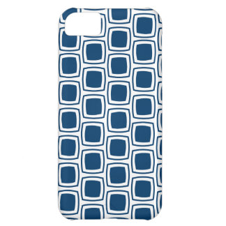 Navy Blue Modern Geometric Pattern iPhone iPhone 5C Case