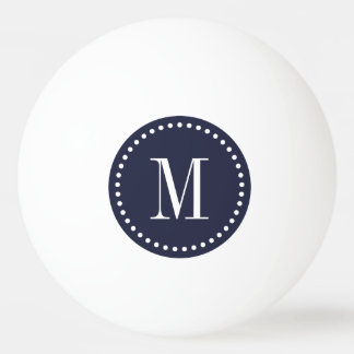 Navy Blue Monogram Personalized Ping Pong Balls