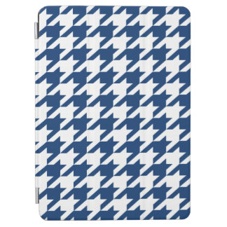 Navy Blue Moods Houndstooth iPad Air Cover