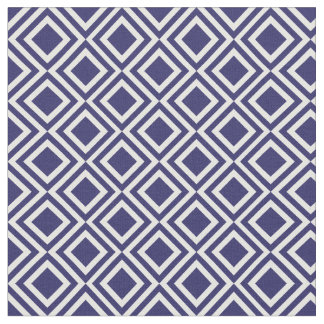 Navy Blue Moroccan Diamond Geometric Pattern Fabric