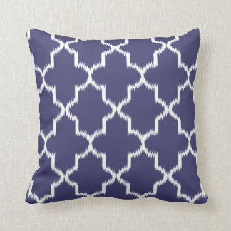 NAVY BLUE Moroccan Ikat Pattern Cushion
