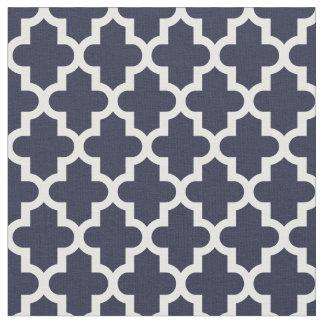 Navy Blue Moroccan Print Fabric