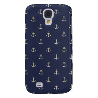 Navy blue nautical anchor samsung galaxy s4 cover