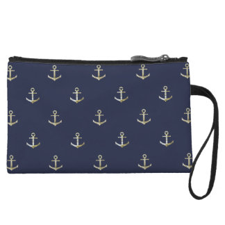 Navy blue nautical anchor wristlet
