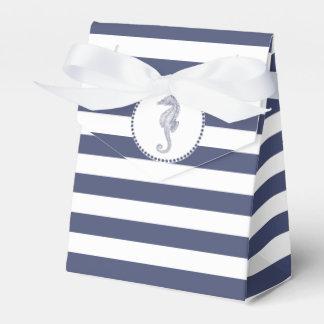 Navy Blue Nautical | Seahorse Favour Box
