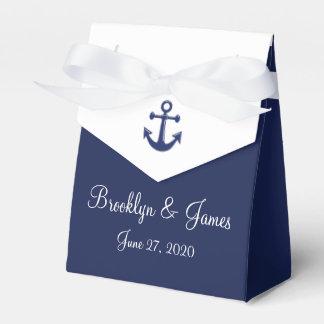 Navy Blue Nautical Wedding Favor Boxes Tent Favour Boxes